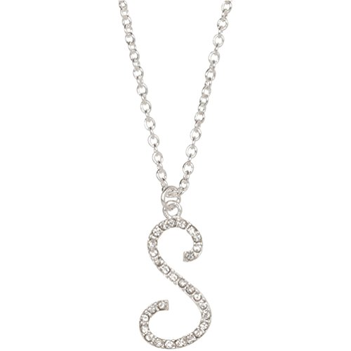 Amazon heirloom finds crystal letter s initial monogram pendant amazon heirloom finds crystal letter s initial monogram pendant necklace 18 chain plus extender jewelry aloadofball Choice Image