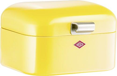 (Wesco Mini Grandy Steel Bread Box for Kitchen/Storage Container, Lemon)