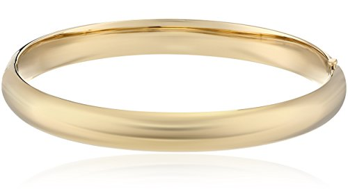 14k Gold-Filled Polished Hinged Yellow Bangle Bracelet, 2.6″