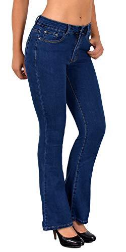 ESRA Jean Femme Bootcut Jeans Pantalon Grandes Tailles Actuelles Designs DD Typ-j173