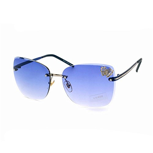 HaiBote Womens High Quality Fashion Eyewear Sunglasses Butterfly Embellishment - Lenses Specsavers Varifocal