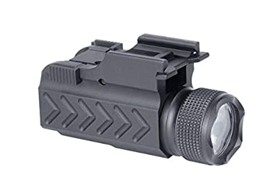 Monstrum Tactical F1000 Compact 150 Lumens Flashlight with Quick Detach Picatinny Rail Mount | for Pistols/Rifles/Shotguns