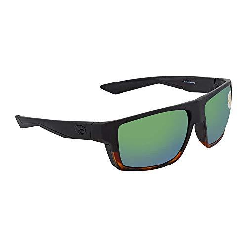 (Costa Del Mar Costa Del Mar BLK181OGMP Bloke Green Mirror 580P Matte Black/Shiny Tortoise Frame Bloke, Matte Black/Shiny Tortoise Frame, Green Mirror 580P)