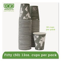 Hot Drink Cups, 12 oz, 50/PK