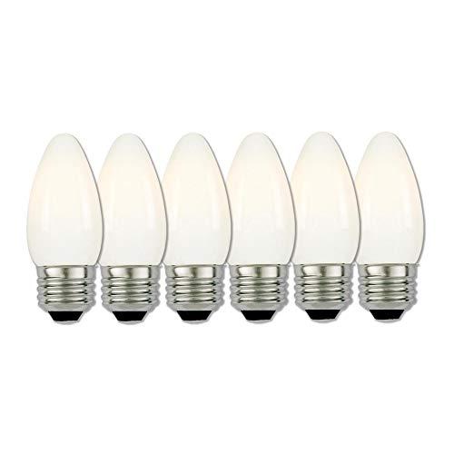 (Westinghouse Lighting 5034020 40-Watt Equivalent B11 Dimmable Soft White Filament LED Light Bulb with Medium Base (6 Pack))