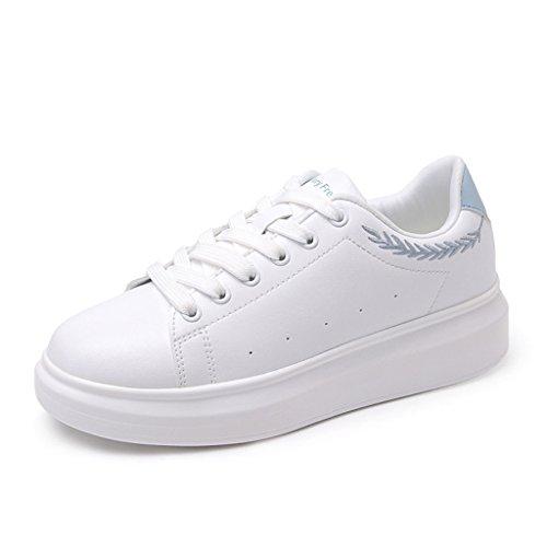 Blanc Shi À Taille Occasionnels 40 Blanches Étudiants Chaussures Respirantes Sport De Confortables couleur Blanc Lacets Petites 8Ug7qwr8