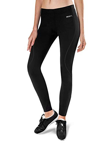 (Baleaf Women's Thermal Fleece Running Cycling Tights Black Size XS)