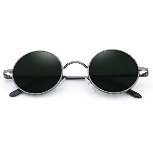 Polarizada De Ser Diseñador Retro Redonda Luz Manejar Caja ZX Proteccion 5 UV400 Viaje Color Gafas Sol con Puede Miopía Fiesta 7 Equipado OpqzxPw