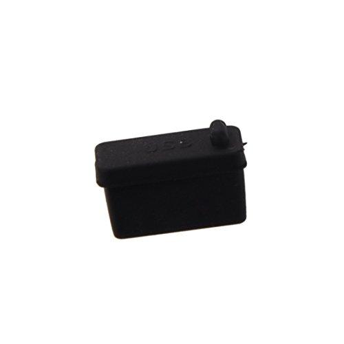 dustproof plug - SODIAL(R) 10 pcs Silicone USB port plug dustproof plug stopper protection cap black by SODIAL(R) (Image #2)