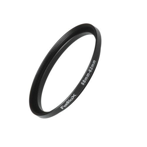 Fotodiox Metal Step Up Ring Filter Adapter, Anodized Black Aluminum 58mm-62mm, 58-62 mm