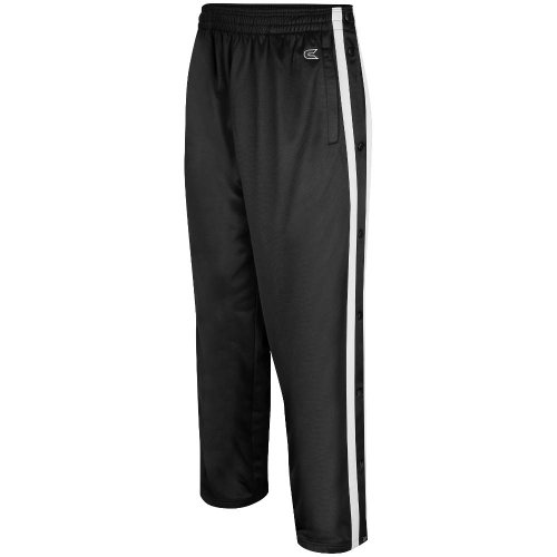 Colosseum Mens Tearaway Athletic Pants (Black/White) - Medium from Colosseum