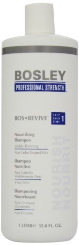 Bosley Bos Revive Nourishing Shampoo&Conditioner for Visibly Thinning Non Color-Treated Hair, 33.8 Ounce