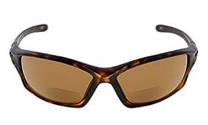 Eyekepper TR90 Frame Bifocal Sports Sunglasses Baseball Running Fishing Driving Golf Softball Hiking Readers (Matte Tortoise, 1.75)