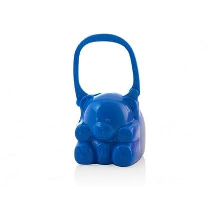 Miniland Pacikeeper - Osito portachupetes de bebé con asa, azul