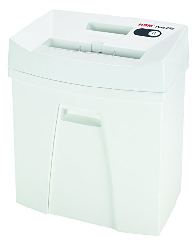 HSM Pure 220 Strip-Cut Shredder; shreds up to 15 sheets; 5.3-gallon capacity by HSM