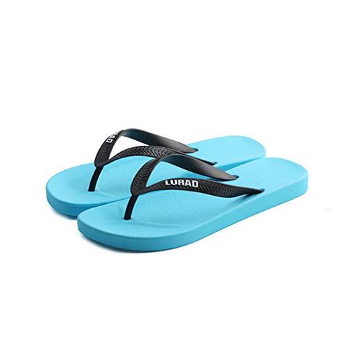 antidérapant Chaussures Blue Plat Talon de Plage Voyage Bleues Sandales Plein été air Chaussures Couple Tongs qwI6t
