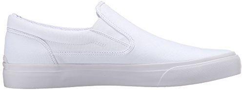 DC Shoes Mens Trase Slip-On TX Low Top Sneakers Blanco - blanco