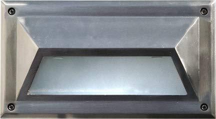 DABMAR LIGHTING DSL1033-SS304 Step Light Hooded 13 Watt PLQ13 120 Volts, Stainless Stain