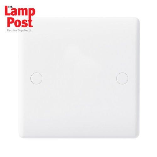 BG Nexus 894 - Slimline 1 Gang Blank Plate White Cover Plate