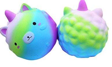 Sefon_Bwomen Squishy starry unicorn cub cub green