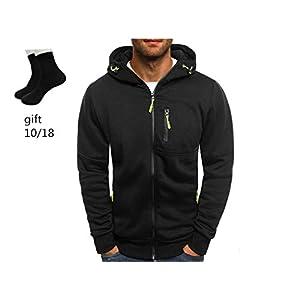 Clearance!! Mens' Zipper Hooded Sweatshirt GoodLock Autumn Winter Long Sleeve Patchwork Cardigan Tops