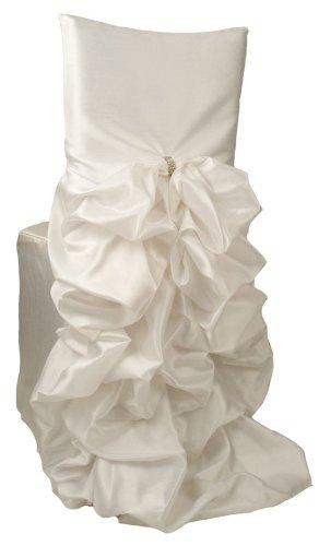 Iridescent Taffeta - Wildflower Linen Iridescent Taffeta Diana Chiavari Chair Cover, White