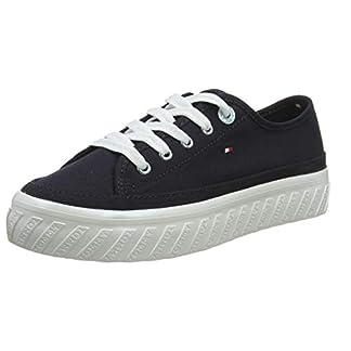 Tommy Hilfiger Damen Outsole Detail Flatform Sneaker, Blau (Midnight 403), 39 EU 4