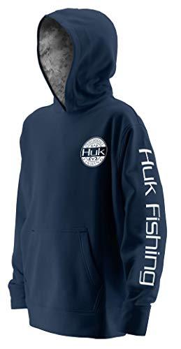 Huk Youth Tidewater Hoodie, Navy/SubPhantis Subzero, Youth Small