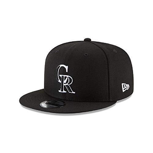 Colorado Rockies Hat (New Era Colorado Rockies MLB Basic Snapback Black White 950 Adjustable)