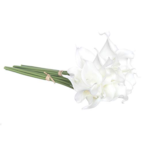 - Royal Imports Calla Lily Flowers Artificial Fake Silk 18 Single Stems for Bouquets, Weddings, Valentines, Wreaths, Crafts, Faux Lilies, White