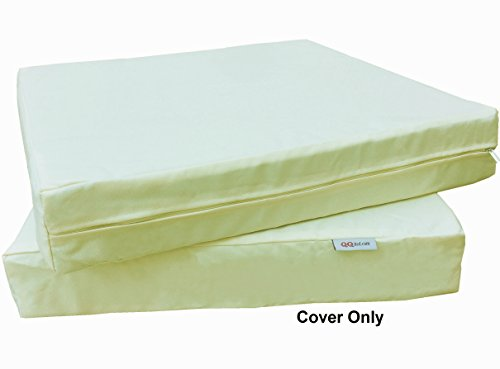 6 Pack Outdoor Patio Chair Washable Cushion Pillow Seat Covers 24' X 22' - Replacement Covers Only, Light Yellow Color