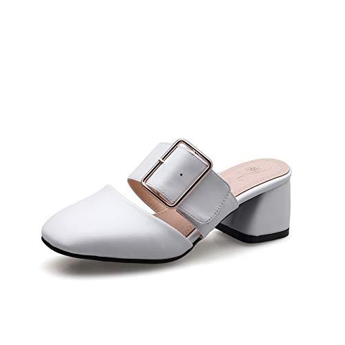 Blanc Femme 36 5 Compensées Sandales Blanc Aimint EYR00350 CqxnwzXXA
