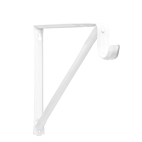 Closet Pro RP-0044-BWT Light Duty 11 in. Shelf And Rod Bracket, White (Installing A Closet Rod)