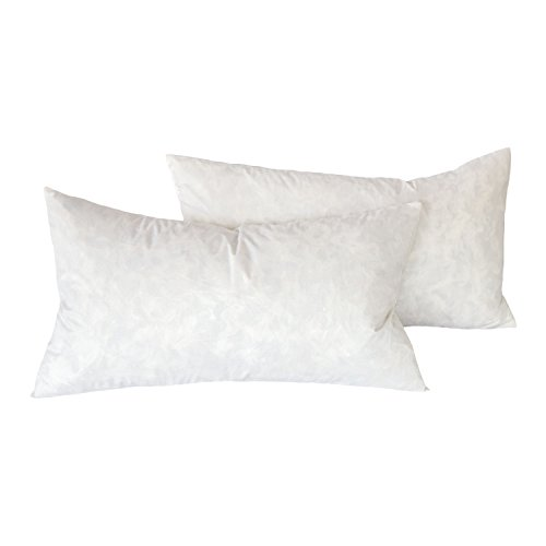 Cozy Bed Feather Pillow Insert 12 x 20(Set of2), 18