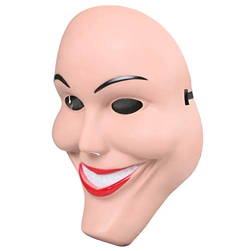 The Purge Smile Mask (Gmasking 2018 Horror Eradicate Killer Women Cosplay Smile Mask 1:1 Halloween)