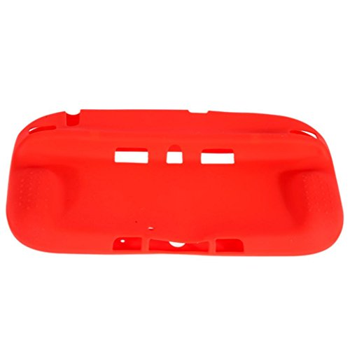 Dreamyth Silicone Rubber Skin Case Protective Cover for Wii U Gamepad Wireless Controller Practical (red) ()