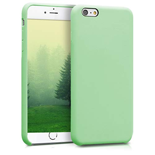 kwmobile TPU Silicone Case Compatible with Apple iPhone 6 Plus / 6S Plus - Soft Flexible Rubber Protective Cover - Light Green