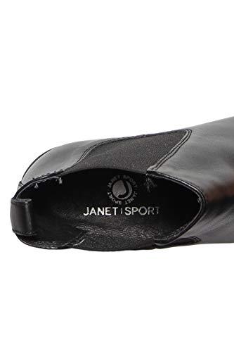 10cm E Carenata Con Para Elastici Tronchetto Gomma Laterali Tacco Pelle Janet Sport In S7RYaWT