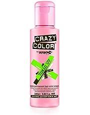 Crazy Color Semi Permanent Hair Colour, 079 Neon Toxic Uv, 100 ml