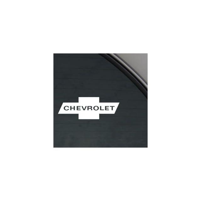 Chevrolet White Sticker Decal Car Window Wall Macbook Notebook Laptop Sticker Decal