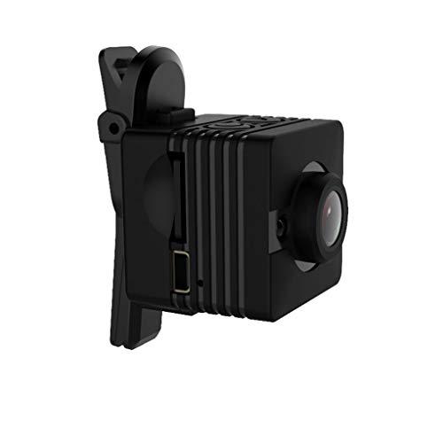 Bodbii SQ12 1920x1080P HD 155 Grados de Movimiento Gran Angular hogar de la detección de cámaras de Seguridad a Prueba de Agua Mini: Amazon.es: Hogar