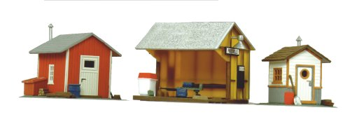 Life-Like Trains  HO Scale Building Kits - Trackside Shanties (Buildings Ho Train)