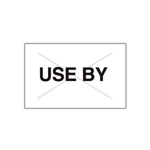 Garvey 2516-10460-CS, GX2516 White/Black''Use by'' Label (Case of 160000 Labels)
