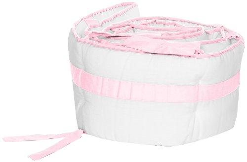 Baby Doll Bedding  Modern Hotel Style Crib Bumper, Pink