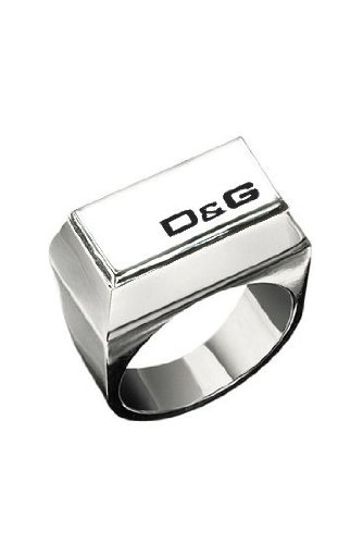 e38962c11e3b Dolce   Gabbana D G Men s Stainless Steel Ring Size - N  Amazon.co.uk   Jewellery