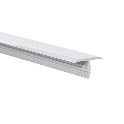 Orange Aluminum - Smooth Push in Trim - Metal Countertop & Cabinet Edging Cover - Easy Install Decorative Aluminum Edge Protector - Mechanical Polish Finish, 6ft Length