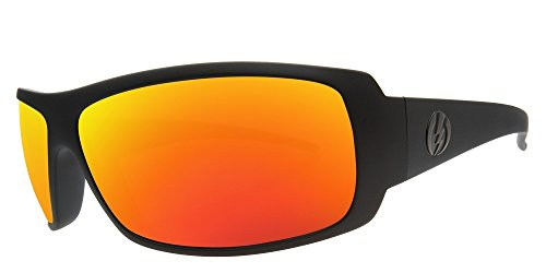 Electric Visual Charge Matte Black/Grey Fire Chrome - Electric Charge Sunglasses