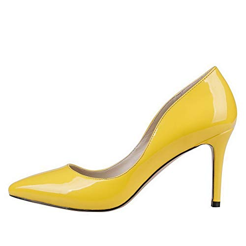 Chaussures Jaune Pumps New Sdc06305 Woman Adeesu Uty Business Chaussures PwUfngq7