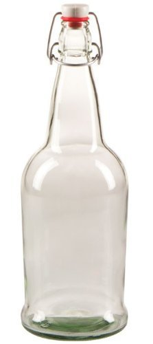 Home Brew Ohio CI-JMBA-O9HP EZ-Cap-Clear-1 Bottle, 32oz, 1 Clear EZ cap kombucha bottle 32 oz Resealable and reusable