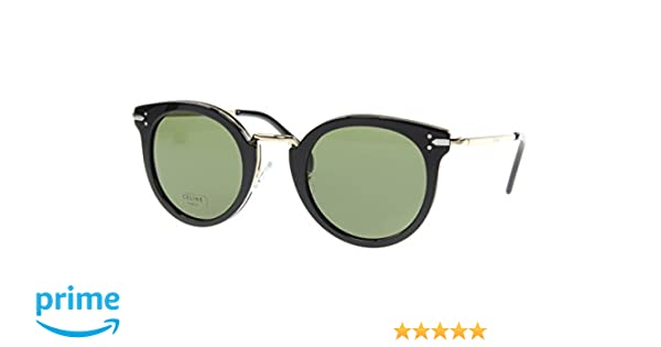 dacc91dc74052 Celine 41373 S ANW Black Gold 41373 S Round Sunglasses Lens Category 3 Size  48m at Amazon Men s Clothing store
